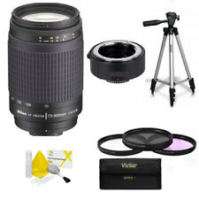 Nikon AF NIKKOR 70-300mm f/4-5.6G Zoom Lens +140-600mm KIT + TRIPOD FOR D3400