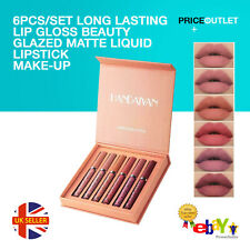 6PCS/Set Long Lasting Lip Gloss Beauty Glazed Matte Liquid Lipstick Make-up UK
