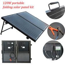 120W Portable Mono Folding Solar Panel 12V For Home Camper Boat Car Outdoor