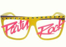 Studded LMFAO Party Rock Shades Sunglasses Yellow Pink Purple