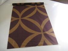 Two beautiful silk fabric panels in beige and purple - unused