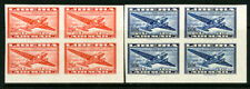 Liberia Stamps # C61-2 XF OG NH Blocks Of 4 Imperforate