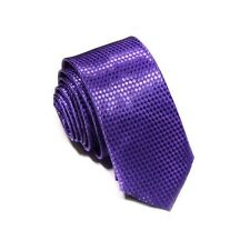 1 x mens ladies tie purple skinny narrow silk wedding birthday shirt necktie new