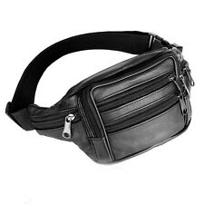 Men Leather Waist Pack Bum Adjustable Belt  Shoulder Bag Pouch Travel Hip Purse