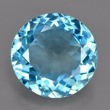 21.85 CARAT NATURAL EARTH MINED BLUE TOPAZ GEMSTONE ROUND FACET