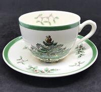 Spode Christmas Tree England Tea Cup and Saucer Set