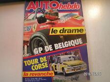 ** Auto Hebdo n°317 GP de Belgique / Formule Renault Turbo / Nobuhiko Kawamoto