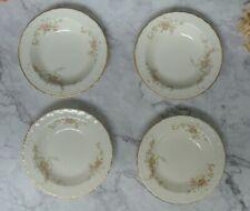 """4 Set Of Vintage Pink Roses Pope Gosser Fruit Bowls """"Jean """"Pattern"""