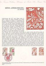 Document Philatélique Timbre 1er Jour : 29/11/ 1975 - Croix Rouge Les Saisons