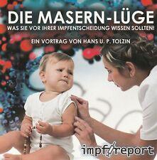 DIE MASERN-LÜGE - Hans U.P. Tolzin DVD - NEU