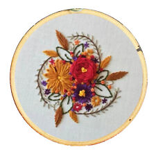 Full Range of Embroidery Starter Kits with Flower Pattern DIY Home Ornament