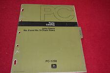 John Deere 8 9 Chain Saw Dealer's Parts Book LCPA