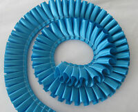 """1m - 25mm / 1"""" Pleated Satin Ribbon. 40 COLOURS perfect for rosettes/crafts"""