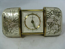 "Beautiful Art Deco Design Europe ""convertible"" alarme clock/Réveille Horloge! Working"