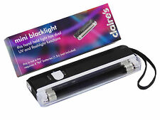 Portable Ultraviolet Black Light + Torch 4W Counterfeit  Money ID free batteries