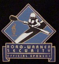 Kayak Olympic Sponsor Pin Badge ~ 1996 ~ Borg - Warner Security