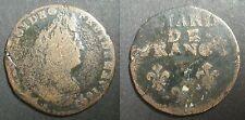 LIARD DE FRANCE AU BUSTE AGE - 1697 T Nantes - ROI LOUIS XIV