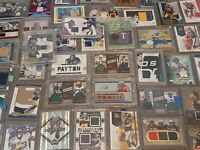 **2 Jersey/Patch Card + 10 Rookies RCs Guaranteed - NFL Football Hot Pack Lot**