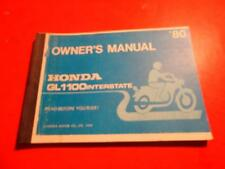 1980 HONDA GL1100 GOLDWING INTERSTATE OWNERS MANUAL 84 PAGES
