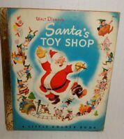 Vintage 1950 Walt Disney's Santa's Toy Shop Little Golden Book