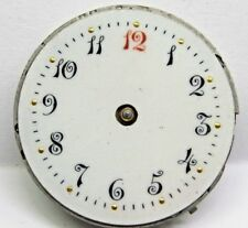 Antique No Name Pocket Watch Movement. 28 mm in size.Nice Porcelain Dial *