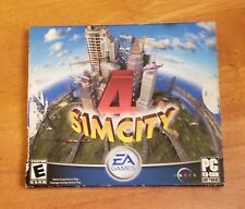 Sim City 4 Two Disc Box Set PC CD-Rom Software Game Building Landscaping Play EA