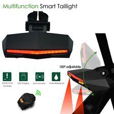 USB Bicycle Bike Rear Tail Laser LED Indicator Turn Signal Light Wireless Remote