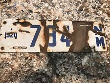 1920 New Mexico License Plate 784