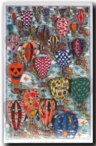 """James Rizzi """"WHICH WAY IS UP"""" Magnet / Magnetschild nach 3D-Konstruktion v. 1989"""