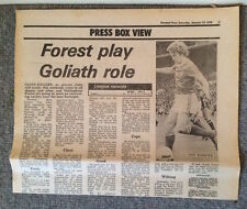 Nottingham Forest Newspaper Article January 13th 1979