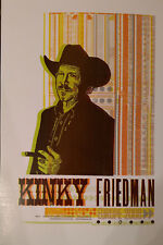 Kinky Friedman European Music Tour Poster - 2008
