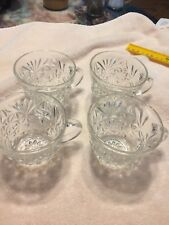 Lot Of 4 Vintage Cut Glass Punch Cups