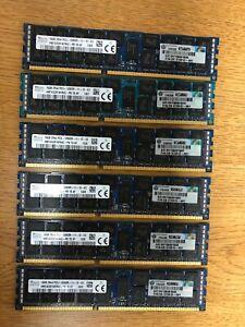 Hynix 96GB (6x16GB) 2Rx4 PC3-12800R-11-12-E2  Memory  672612-081 RAM