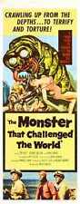 Monster That Challenged The World Poster 02 MeTal Sign A4 12x8 Aluminium