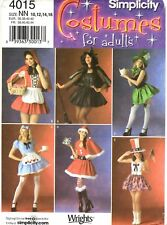 Simplicity Sewing Pattern Women's SEXY COSTUMES 4015 WRIGHTS 10-12-14-16 UNCUT