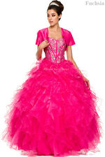 MILITARY QUINCEANERA MASQUERADE BALL GOWNS CORSET SWEET 16 PAGEANT WEDDING DRESS