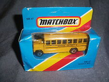 275B Vintage Matchbox 1981 MB 47 Bus School Bus School District 2 US 1:76
