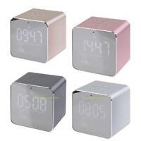 Portable LCD Display Bluetooth Wireless Stereo Speaker Clock Alarm Subwoofer Box