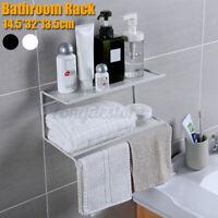 2 Tier Metal Shower Corner Pole Caddy Shelf Organizer Bathroom Bath Storage Rack
