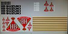 SUZUKI RG500 RG250 HB RACING FULL PAINTWORK DECAL KIT