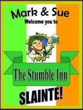 Personalised Pub sign, Home Bar, homebrew Irish The Outside Inn Free P&P