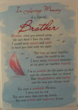 Memorial Grave Card In Loving Memory of a Special Brother 16.5cm x12cm