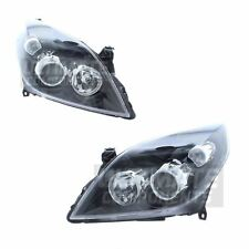 Vauxhall Vectra C Saloon 2005-2009 Headlights Headlamps Black Inner 1 Pair