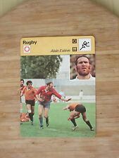 FICHE CHAMPION RUGBY ESTEVE AS BEZIERS   EQUIPE FRANCE  1979