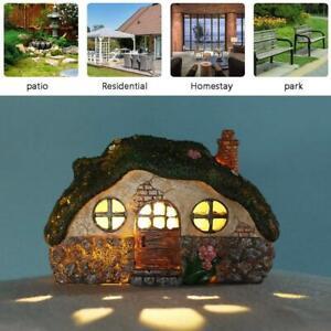 Solar Garden Warm Light  Fairy House Pixie Outdoor Ornament Home Gift Treehouse