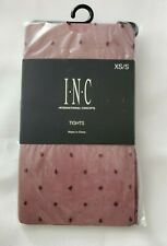 INC International Concepts Women's Swiss-Dot Tights XS/S Red