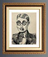 SUPERBE OEUVRE ORIGINALE EPOQUE ART DECO 1920 SIGNEE MONOGRAMME AK