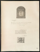 1926 - Lithographie citation de Paul Cambon, de Fleuriau (guerre 14 18)