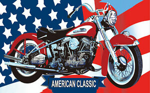 USA motorcycle flag 5ft x 3ft with eyelets