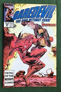 Daredevil #249 Marvel Comics Copper Age Wolverine vf/nm